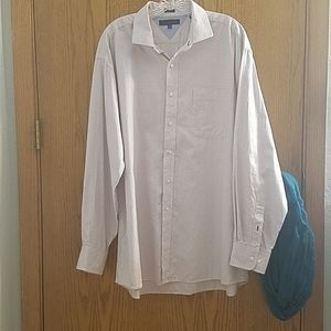 Tommy Hilfiger white checked button down shirt